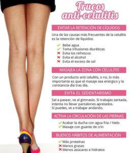 Trucos anticelulitis piernas
